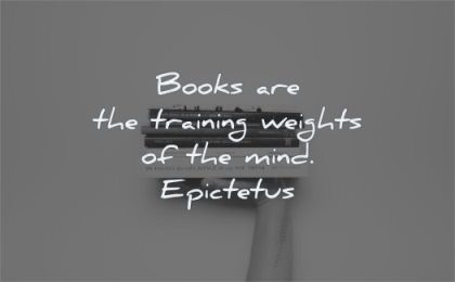 book quotes books training weights mind epictetus wisdom hand lifting