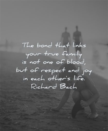 brother quotes bond links your true family blood respect joy each others life richard bach wisdom beach playing