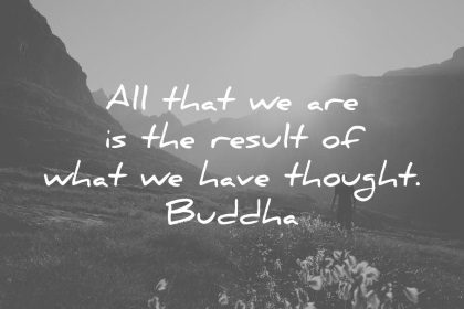 buddha quotes all that we are is the result of what we have thought wisdom quotes