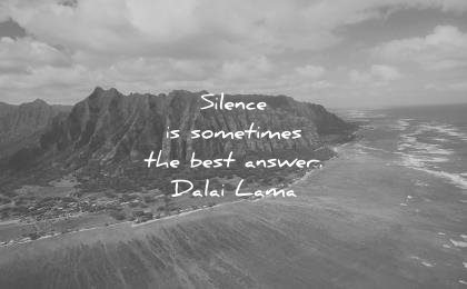 dalai lama quotes silence sometimes best answer wisdom