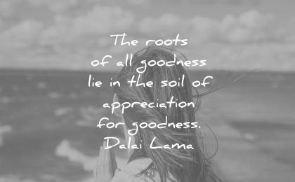 dalai lama quotes the roots all goodness lie soil appreciation wisdom