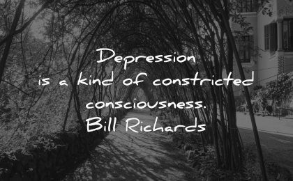 depression quotes kind constricted consciousness bill richards wisdom nature trees road