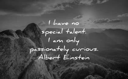 famous quotes have no special talent passionately curious albert einstein wisdom nature