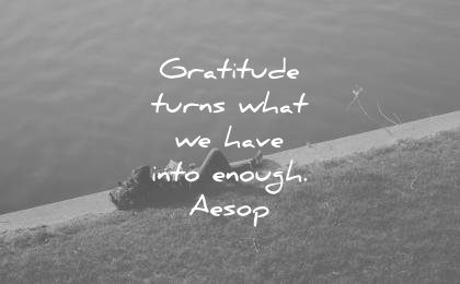 gratitude quotes turns what have into enough aesop wisdom