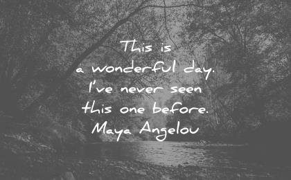 gratitude quotes this is a wonderful day ive never seen this one before maya angelou wisdom quotes