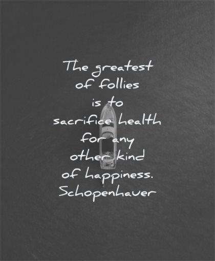 health quotes greatest follies sacrifice other kind happiness arthur schopenhauer wisdom water sea boat
