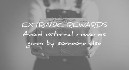 how to learn faster extrinsic rewards avoid external given someone else wisdom quotes