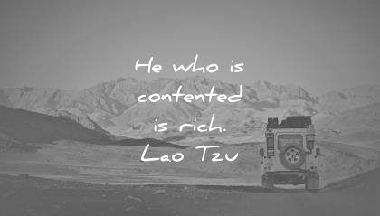 inner peace quotes who contented rich lao tzu wisdom