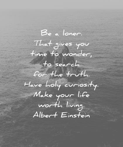 introvert quotes loner gives time wonder search truth have holy curiosity make your life worth living albert einstein wisdom