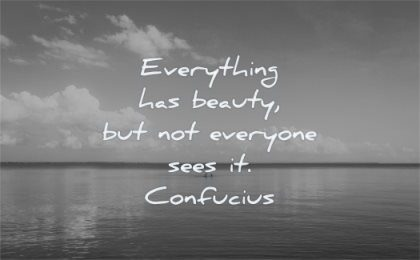 life quotes everything has beauty not everyone sees confucius wisdom water lake sky