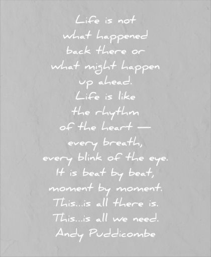 life quotes not what happened back there what might happen ahead andy puddicombe wisdom