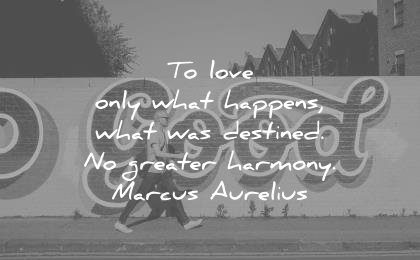 marcus aurelius quotes love only what happens was destined greater harmony wisdom