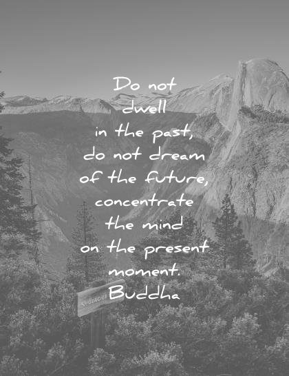 meditation quotes dwell past dream future concentrate mind present moment buddha wisdom
