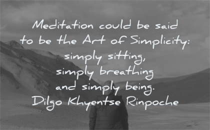 meditation quotes could said art simplicity simply sitting breathing being dilgo khyentse rinpoche wisdom water nature