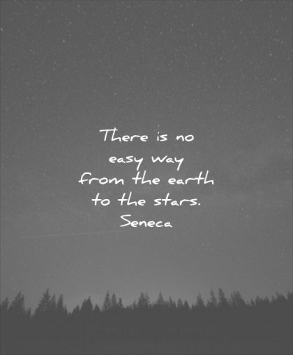 never give up quotes there easy way from the earth stars trees forest sky calm