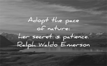 ralph waldo emerson quotes adopt pace nature her secret patience wisdom new zealand mountain lake