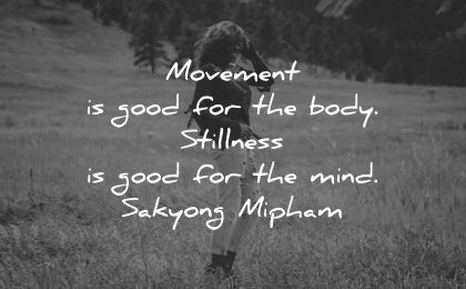 serenity quotes movement good body stillness for mind sakyong mipham wisdom nature woman