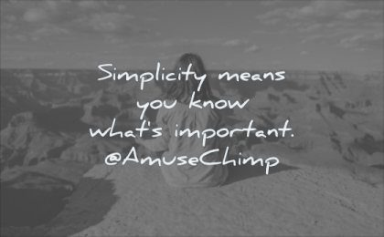 simple quotes simplicity means you know whats important amuse chimp wisdom woman sitting calm