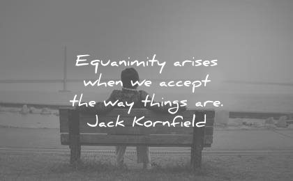 spiritual quotes equanimity arises when accept the way things are jack kornfield wisdom