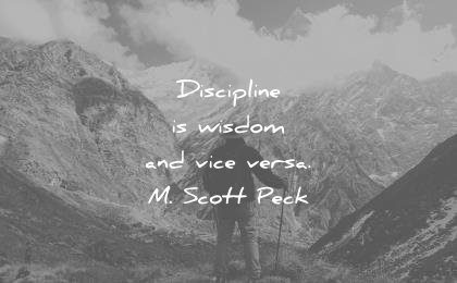 words of wisdom quotes discipline vice versa m scott peck